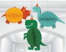 Dino-Mite Party Honeycomb Hanging Decor