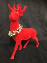 Reindeer Red Flocked Standing