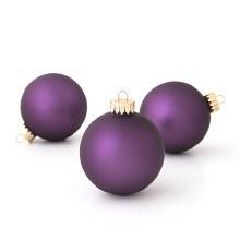 Boxed Ornament Purple Matte 10pc