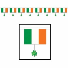 Irish Flags & Shamrocks Banner