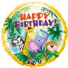 "18"" Jungle Friends ~ Happy Birthday"