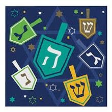 Hanukkah Icons Beverage Napkins