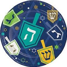 Hanukkah Icons 7in Plate