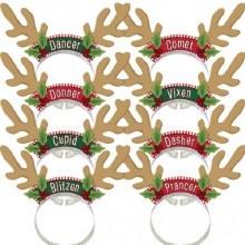 Santa's Reindeer Headbands ~ 8 Pack