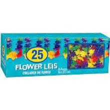 Leis Flower Rainbow 25pk