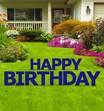Yard Sign Happy Birthday Navy
