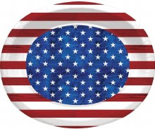 Patriotism Oval Plates 8ct