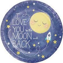 To the Moon 9in Plates 8ct