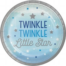 One Little Star Boy 9in Plates 8ct