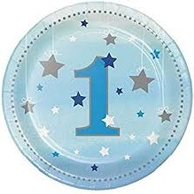 One Little Star Boy 7in Plates 8ct