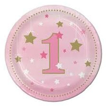 One Little Star Girl 7in Plates 8ct