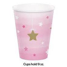 One Little Star Girl 9oz Cup 8ct