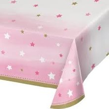 One Little Star Girl Plastic Tablecover