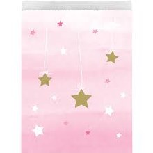 One Little Star Pink Treatbags 10ct