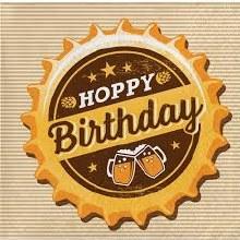 Hoppy Birthday Beer Beverage Napkins 16ct