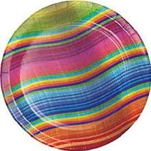 Serape 7in Plate 8ct