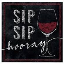 Sip Sip Hooray Wine Beverage Napkins