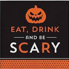 EatDrinkandBeScary Beverage Napkins