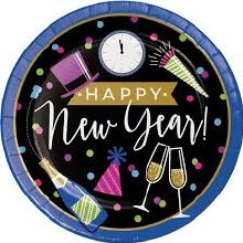 New Year Cheers 9in Plate