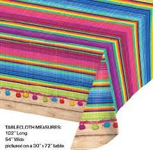 Serape Plastic Tablecover