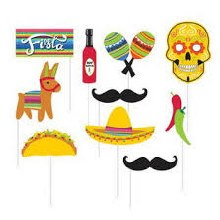 Photo Booth Props Fiesta 10pc
