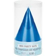 Hats Cone Mini Blue 6ct