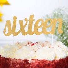 Cake Topper Sixteen