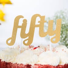 Cake Topper Glitter Fifty