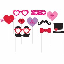 Photo Booth Valentine Props 10ct