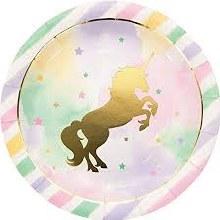 Unicorn Sparkle 9in Plates 8ct