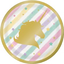 Unicorn Sparkle 7in Plates 8ct