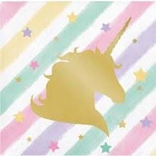 Unicorn Sparkle Beverage Napkins 16ct