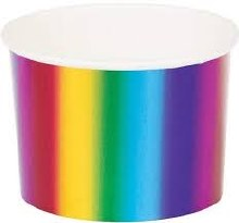 Rainbow Foil 9oz Treat Cups