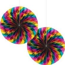 Rainbow Foil Paper Fans
