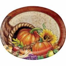 Thanksgiving Bounty Oval Plates 8ct