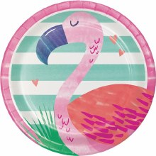 Pineapple Friends Flamingo 7in Plates 8ct