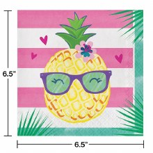 Pineapple Friends Lunch Napkins 16ct