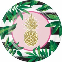 Pineapple Wedding 9in Plate 8ct