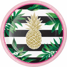 Pineapple Wedding 7in Plate 8ct