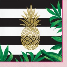 Pineapple Wedding Lunch Napkins 16ct