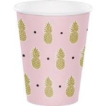 Pineapple Wedding 9oz Cups 8ct