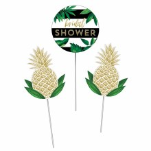 Pineapple Wedding Centerpiece Sticks 3pc