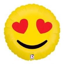 "Emoji Jumbo Heart Eyes ~ 36"""