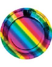 Rainbow Foil 7in Plates