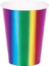 Rainbow Foil 9oz Cups