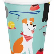 Dog Party Hot/Cold 12oz Cups 8ct