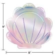Mermaid Shell Plates 8ct