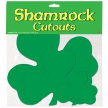 Shamrock Cutouts 9pk Asst