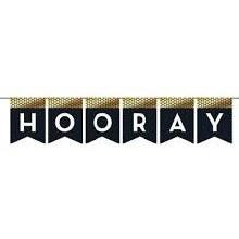 Hooray Banner Blk/Gld