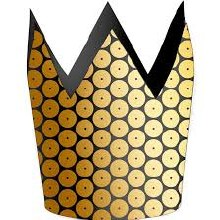Crowns Paper Gold 8pk